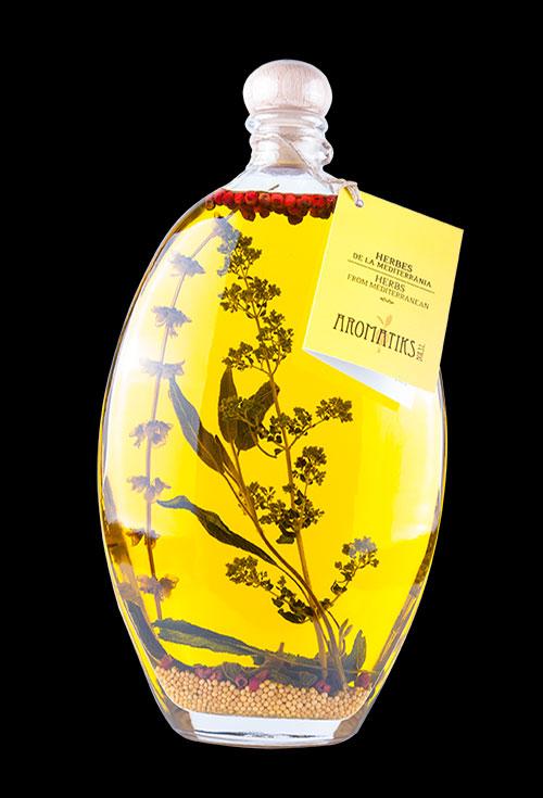 aceite de hierbas mediterranea aromatiks modelo tarquinia liscia 500ml