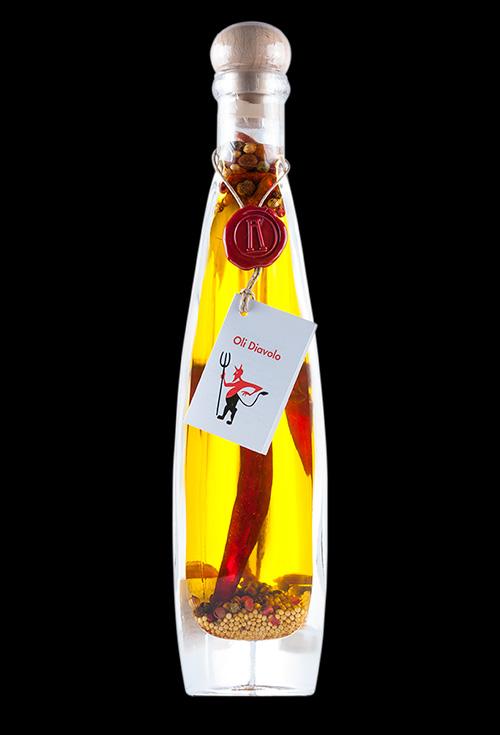 aceite picante diavolo aromatiks modelo triangolare 200ml