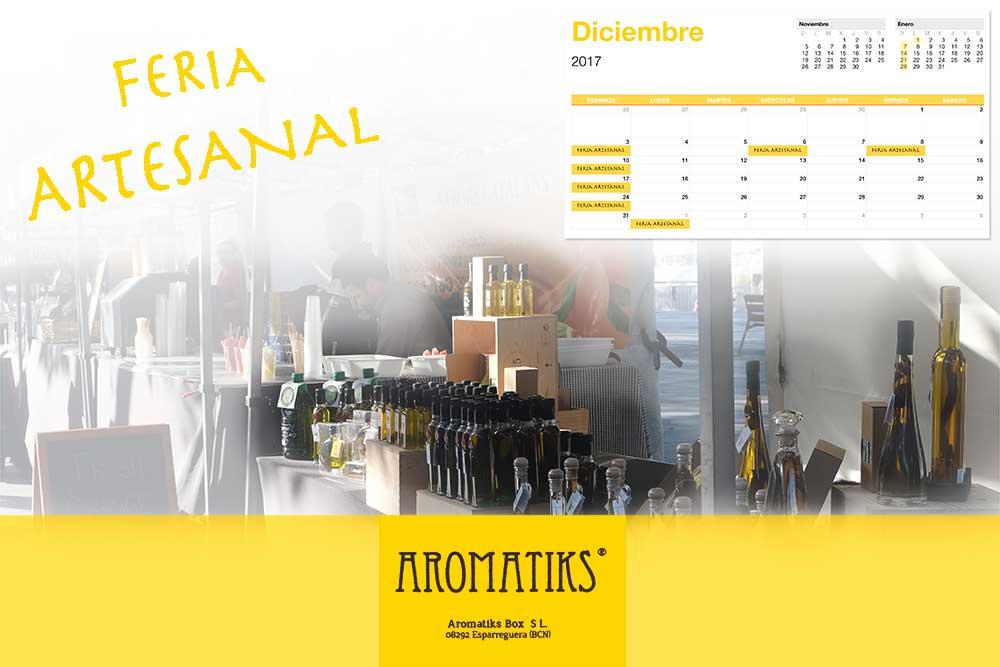 feria artesanal venta aceites passeig joan de borbo barcelona